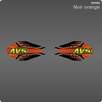 Kit Déco Géometrique Noir orange