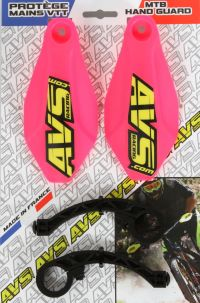 Handguards Kit neon pink - Plastic supports